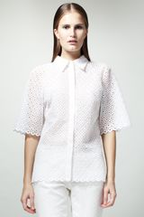 Stella McCartney Diamondeyelet Shirt - Lyst