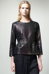 Stella McCartney Womens Diamondpattern Peplum Top - Lyst