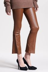 The Row Flared Leather Leggings - Lyst