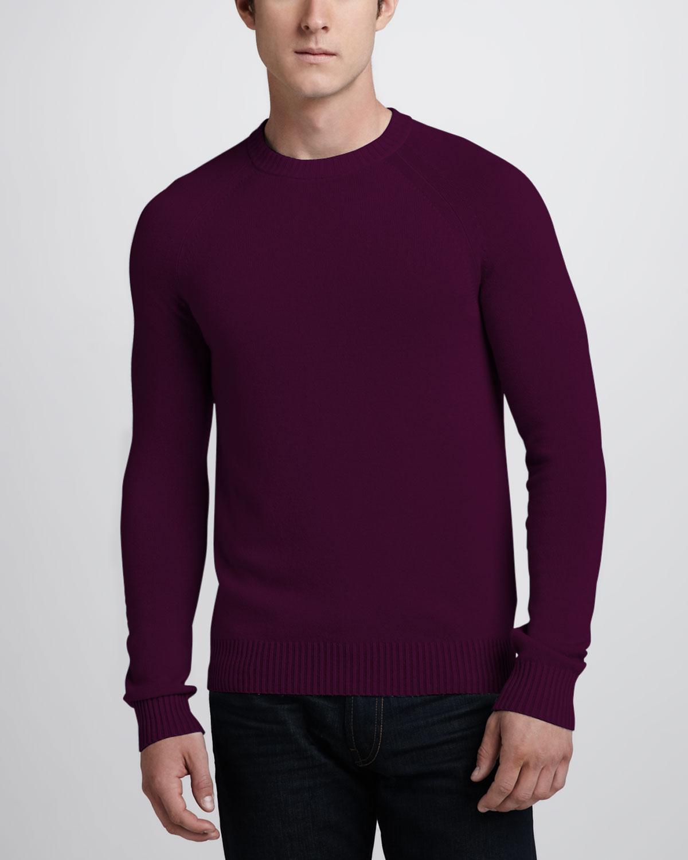 Theory Cashmere Raglan Sweater Kehelland Raspberry In