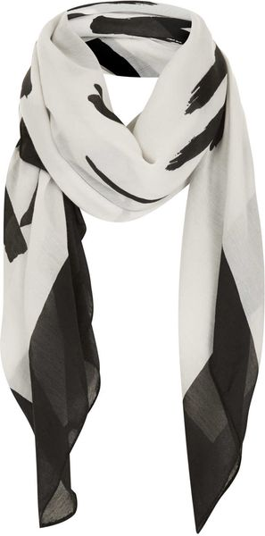 Topshop Love Is The New Black Scarf in Black (Monochrome)