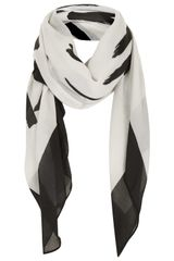Topshop Love Is The New Black Scarf in Black (Monochrome) - Lyst