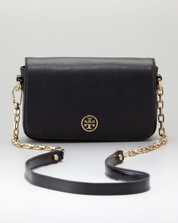 Tory Burch Robinson Chainstrap Mini Bag In Black Lyst