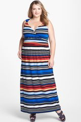 Vince Camuto Bright Stripe Maxi Dress - Lyst
