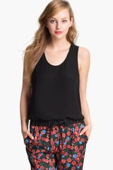 Vince Camuto Back Lace Panel Tank - Lyst