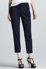 Vince Pleated Twill Pants - Lyst