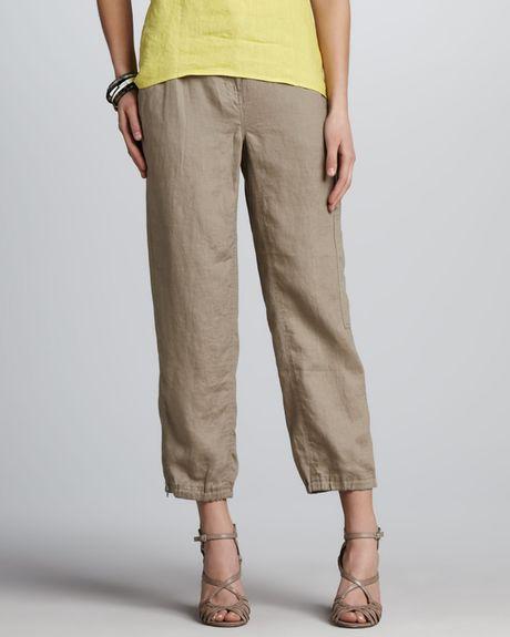New  Womens Beige Wide Loose Cargo Combat Trousers Jeans Boyfriend Pants