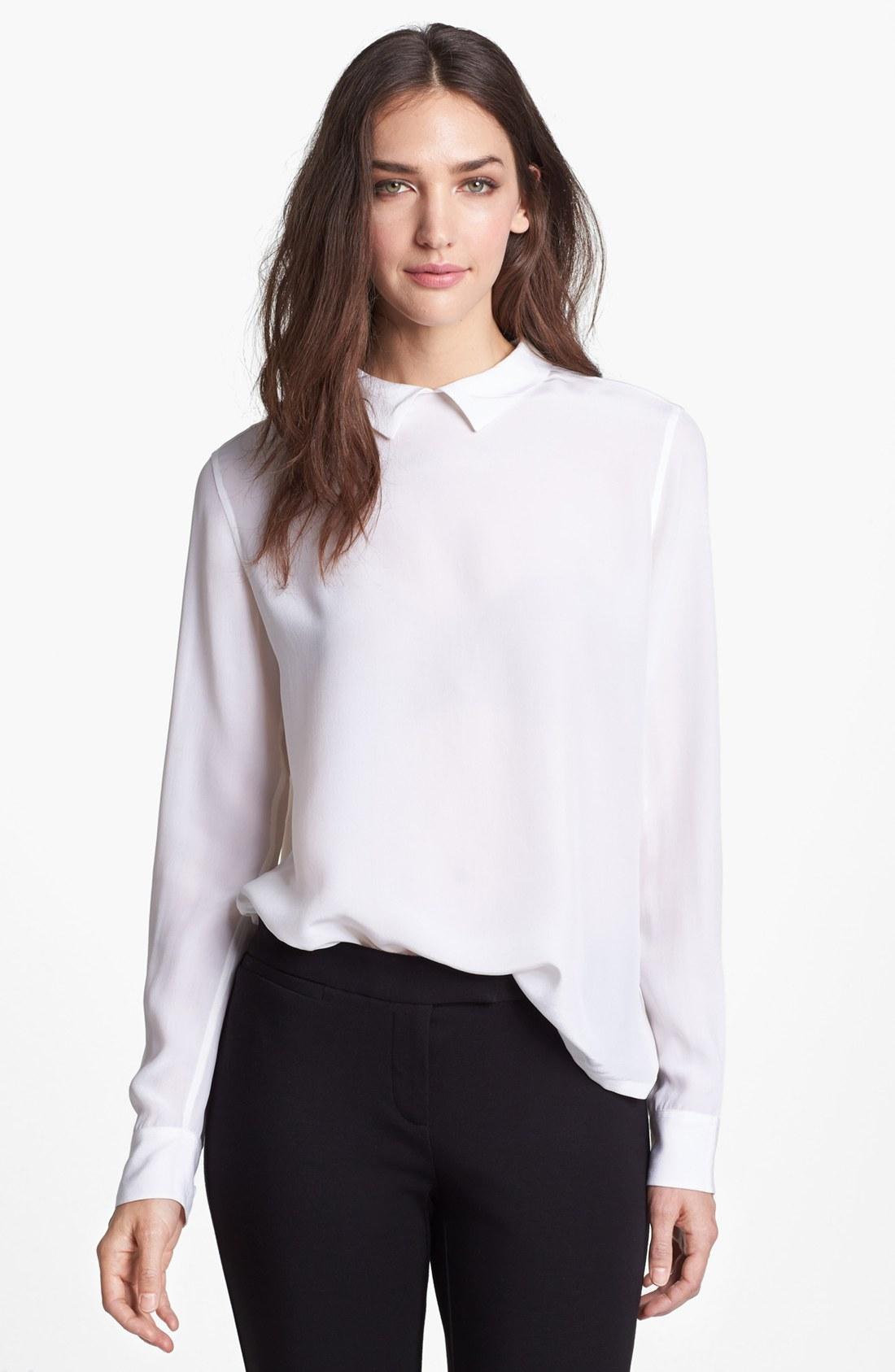 Equipment Grace Silk Shirt in White | Lyst