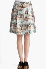 Marni Forest Print Front Pleat Radzimir Skirt - Lyst