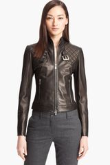 Michael Kors Quilted Plonge Leather Jacket - Lyst