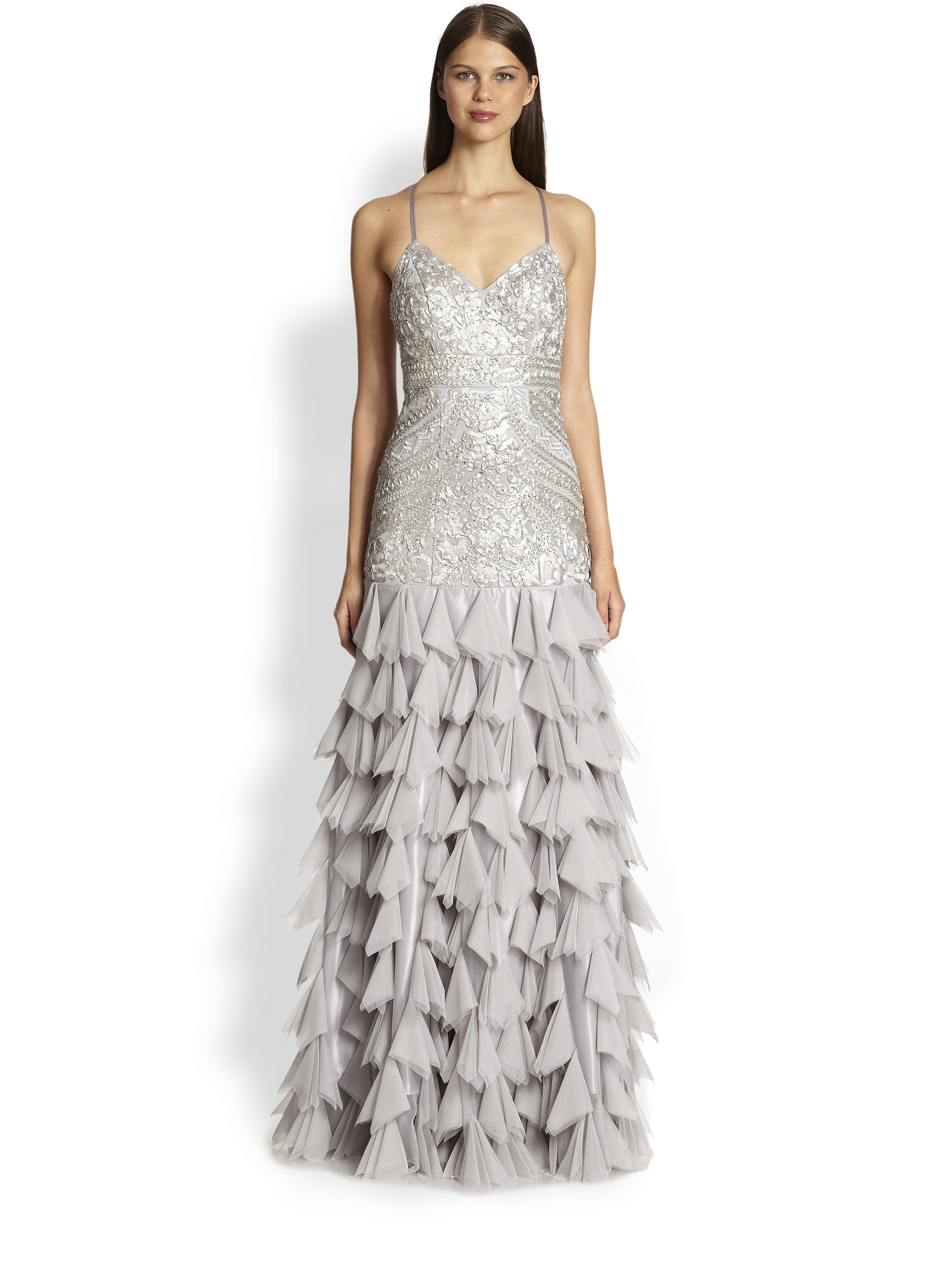 Nice Sue Wong Gown Chiffon Skirt Vignette - Images for wedding gown ...