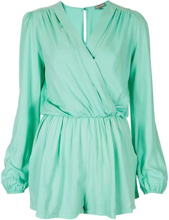 Topshop Wrap Playsuit By Love - Lyst