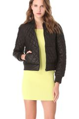 Alexander Wang Quilted Leather Bomber Jacket - Lyst