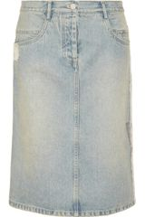 Alexander Wang Metallic Print Denim Skirt - Lyst
