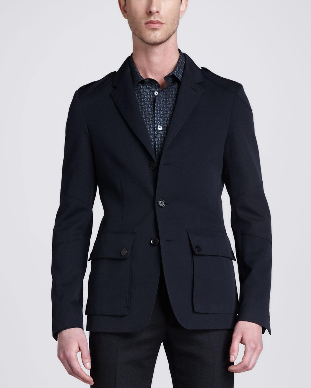 Belstaff Linden Military Sport Coat Dark Navy in Black for Men | Lyst