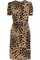 Burberry Animalprint Silk Dress - Lyst