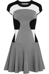 Diane Von Furstenberg Renee Colorblock Stretchjersey Dress - Lyst