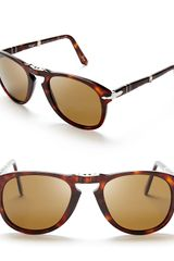 Persol Suprema Folding Polarized Keyhole Sunglasses - Lyst