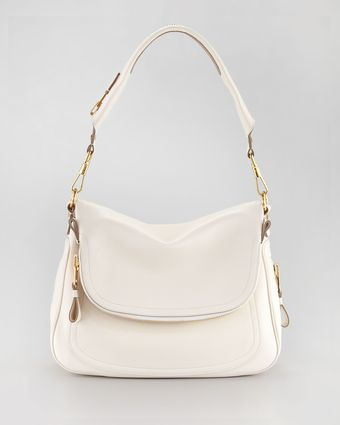 Tom Ford Womens Large Jennifer Flaptop Bag Ivory - Lyst