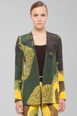Akris Long Gardenprint Silk Crepe Jacket - Lyst
