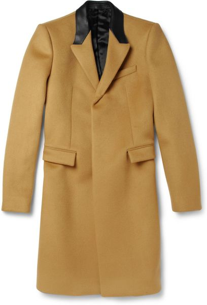 Burberry Prorsum Slim-Fit Bonded Cashmere-Blend Overcoat in Brown for