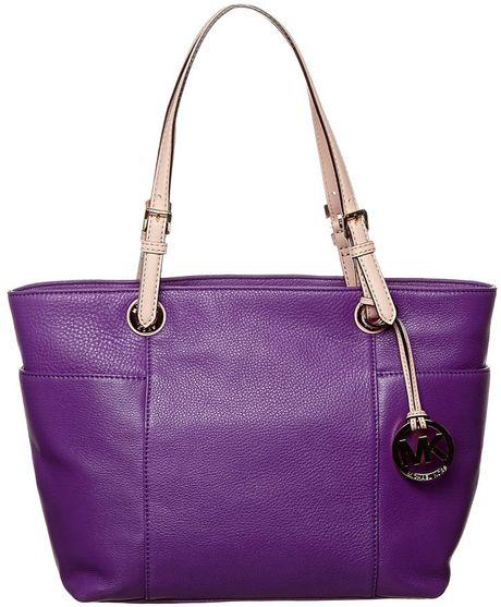 Michael Michael Kors Jet Set Handbag Purple in Purple