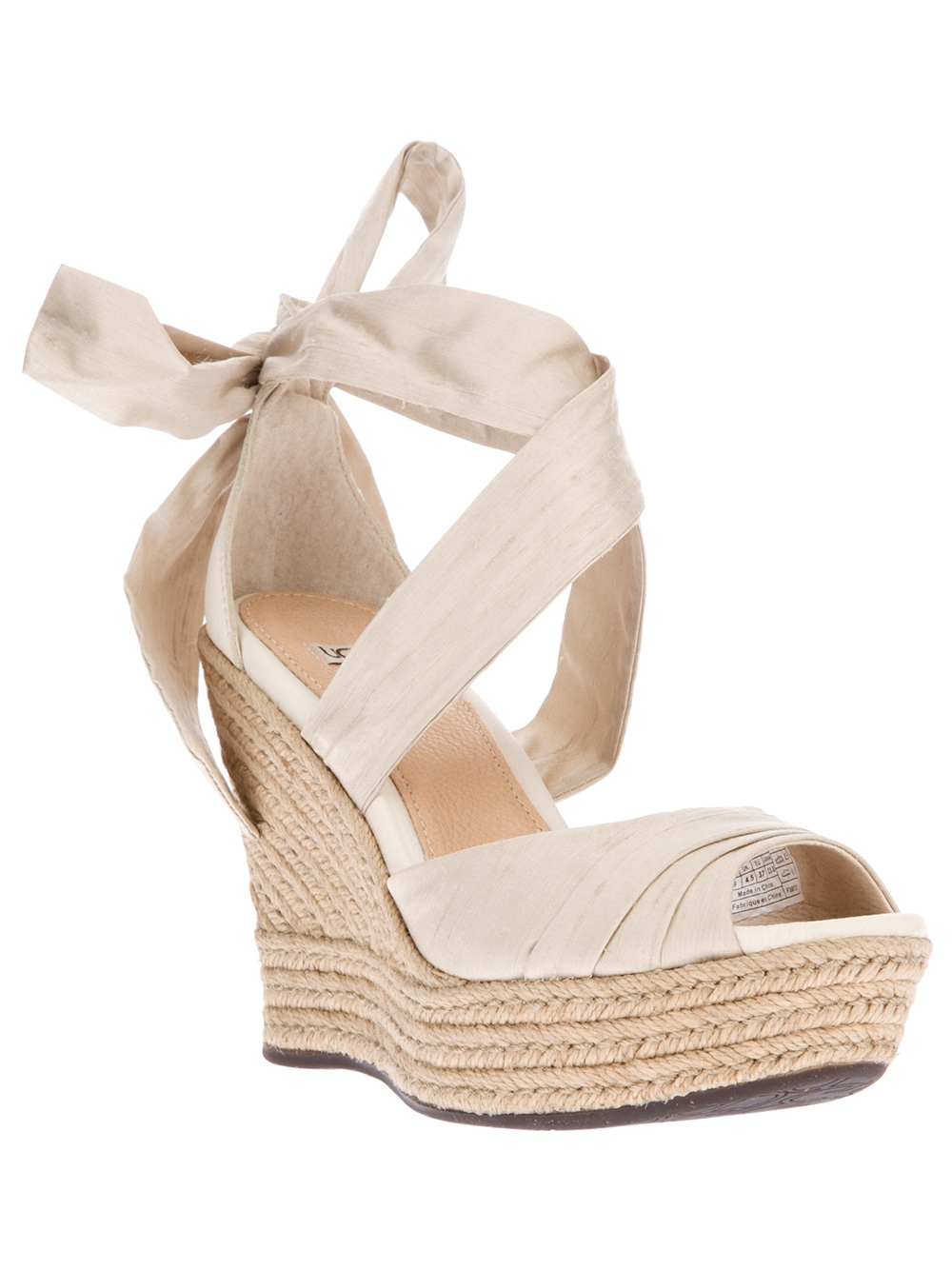 Lyst Ugg Lucianna Wedge Sandal In Metallic