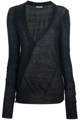 Ann Demeulemeester Sheer Long Cardigan - Lyst
