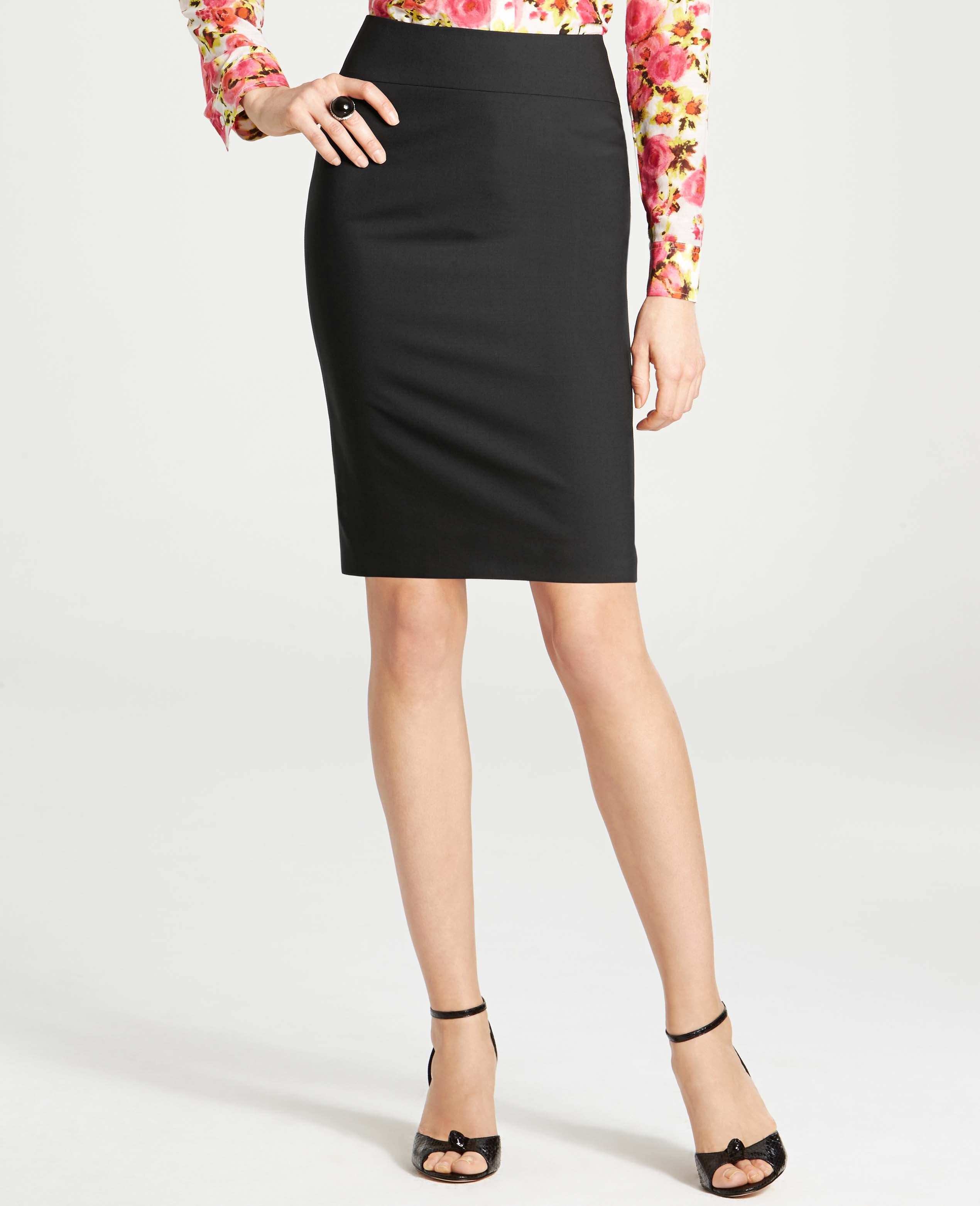 Lyst Ann Taylor Tropical Wool Flare Back Pencil Skirt In