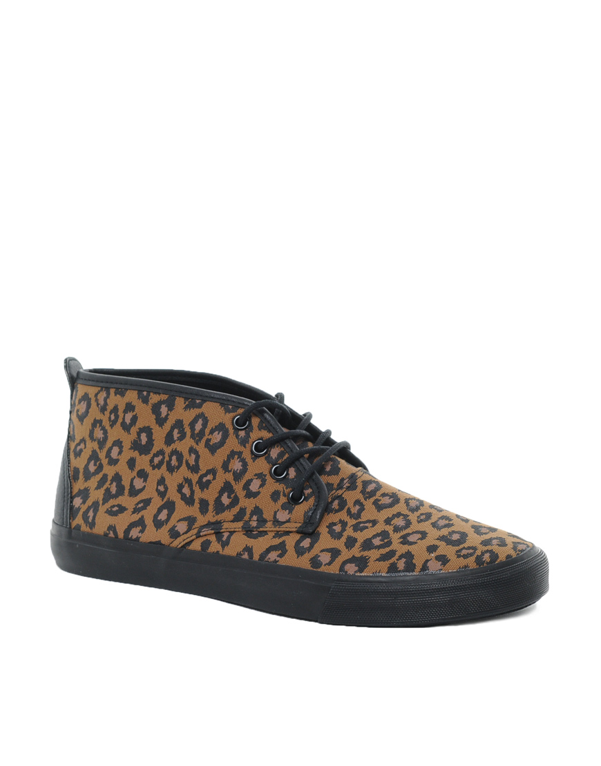 Asos Chukka Boots With Leopard Print In Orange For Men Lyst