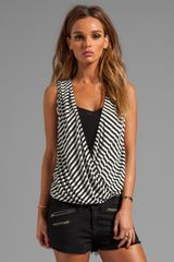 Ella Moss Gabi Stripe Tank in Black - Lyst