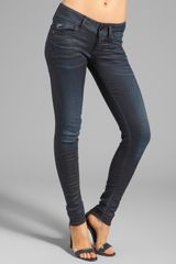 G-star Raw Lynn Skinny in Slander Super Stretch Dark Aged - Lyst