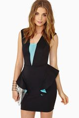 Nasty Gal Deep End Peplum Dress - Lyst