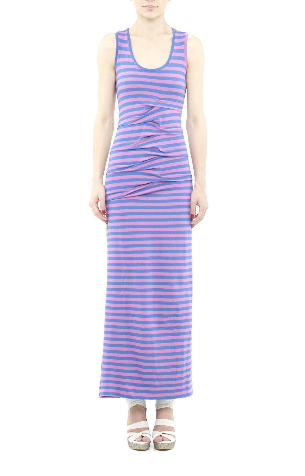 Nicole miller striped maxi dress