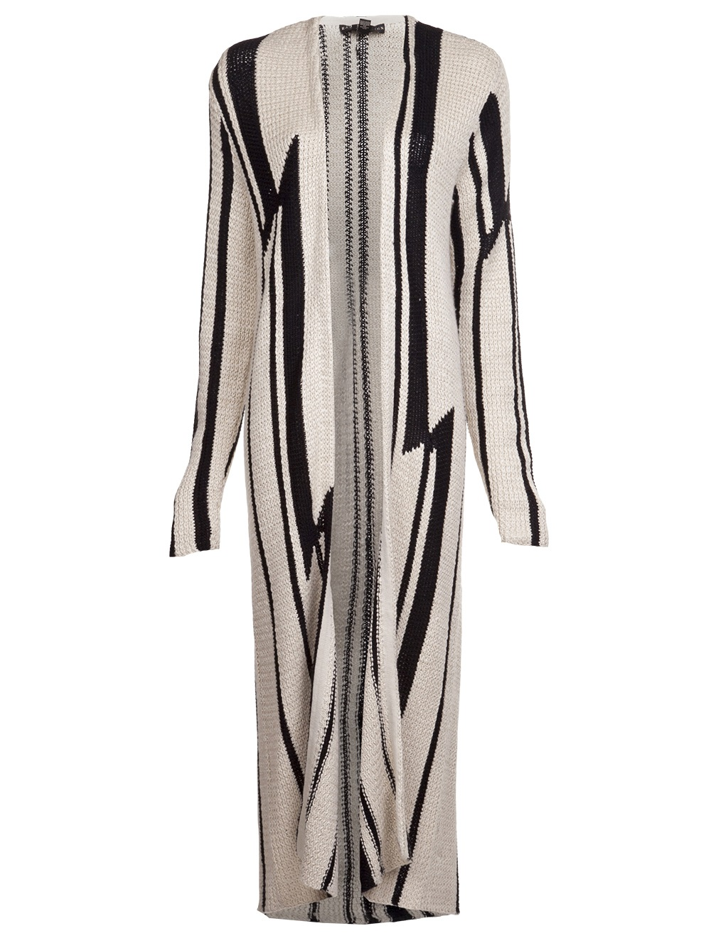 ralph lauren floor length cardigan in natural | lyst