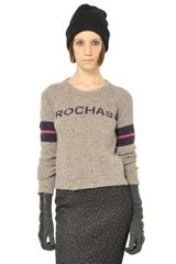 Rochas Wool Blend Logo Sweater - Lyst