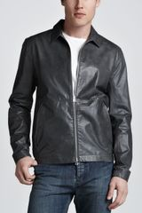 Theory Ion Leather Jacket - Lyst