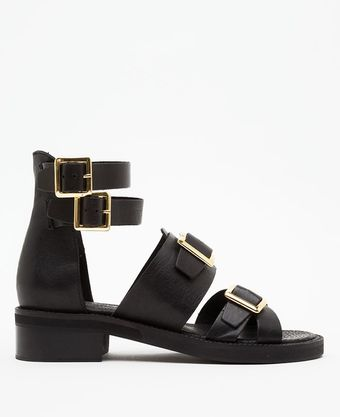 Topshop Fran Heavy Sole Buckled - Lyst
