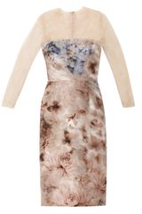 Valentino Garden print Silk and Lace Dress - Lyst