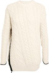 3.1 Phillip Lim Oversized Arran Knit Jumper - Lyst
