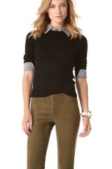 Alice + Olivia Alice Olivia Wiley Sweater with Collar Cuff - Lyst