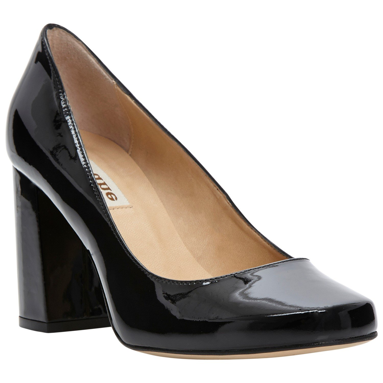 e6f96f8e758 Dune Agaze Block Heel Court Shoes in Black - Lyst