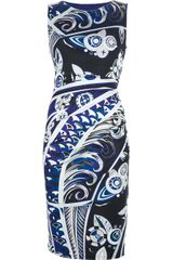 Emilio Pucci Decofan Sleeveless Dress - Lyst