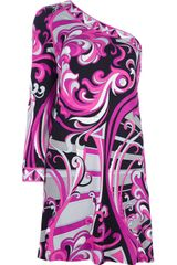 Emilio Pucci Singapore Asymmetric Dress - Lyst
