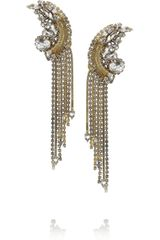 Erickson Beamon Bette Davis Eyes Goldplated Crystal Earrings - Lyst