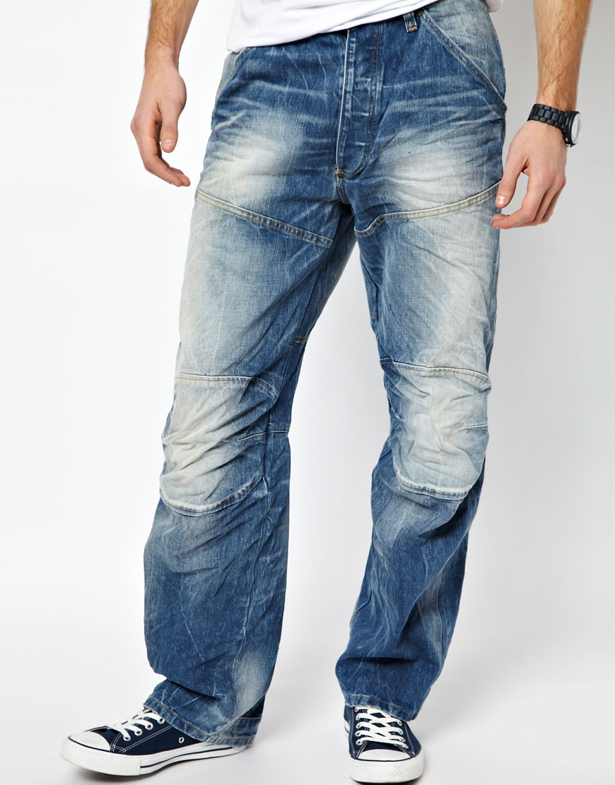 g star raw g star jeans elwood 3d loose light aged in blue. Black Bedroom Furniture Sets. Home Design Ideas