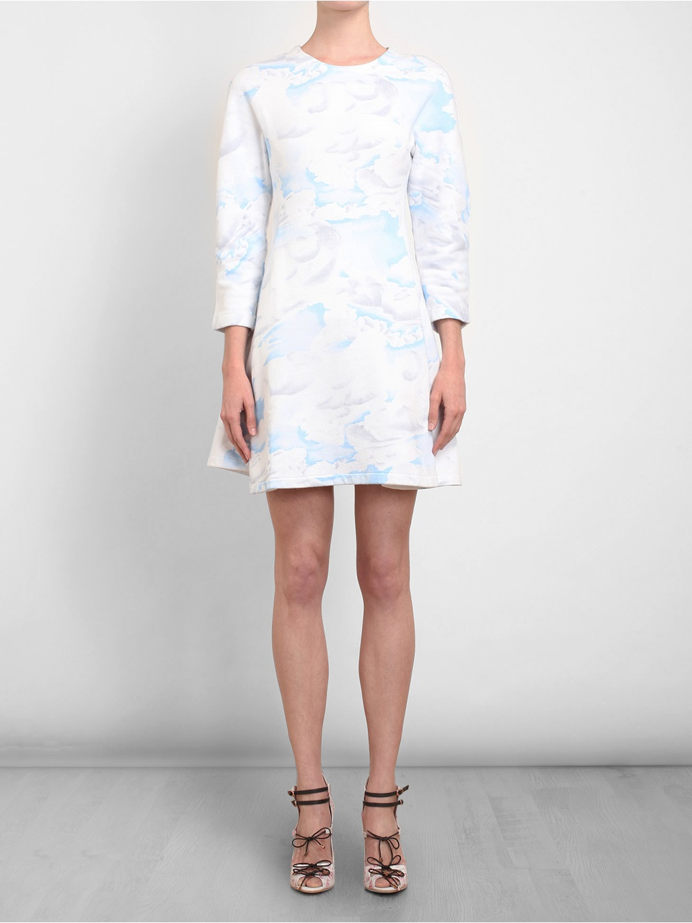 Kenzo Cloud Printed Cotton Sweater Dress in Blue | Lyst