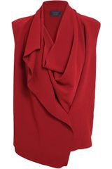 Lanvin Draped Crepe Top - Lyst