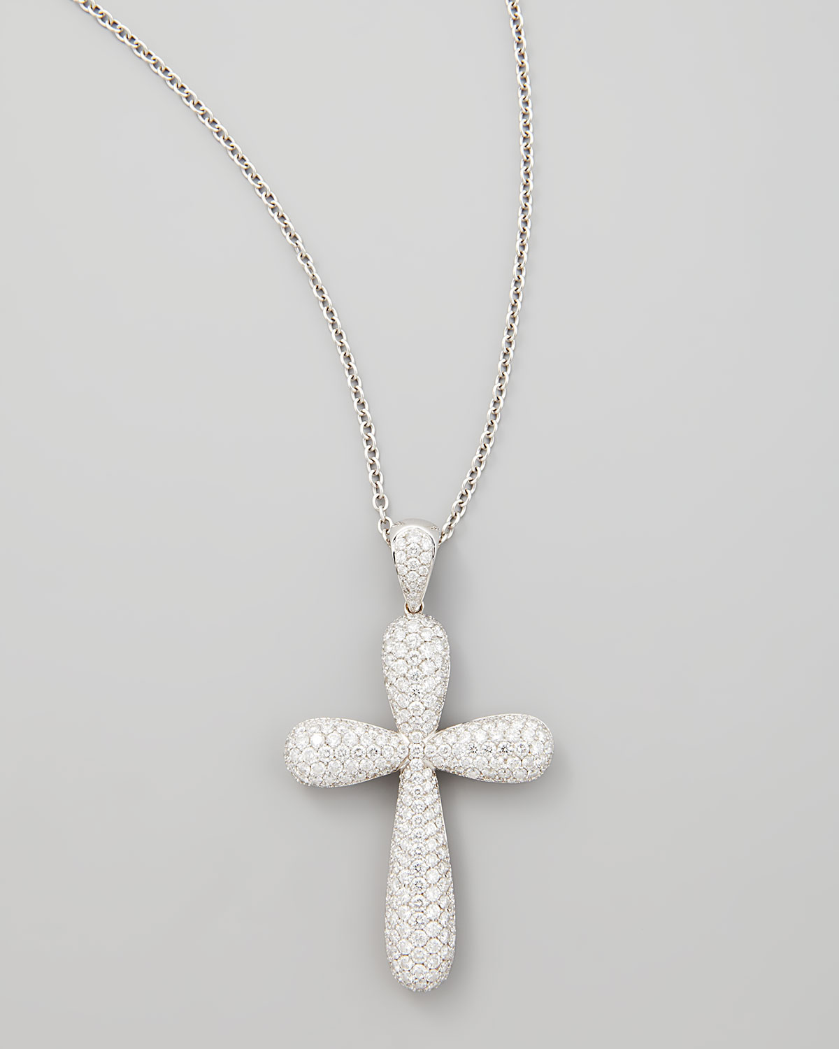 Lyst neiman marcus 18k white gold large pave diamond cross pendant gallery previously sold at neiman marcus womens diamond cross necklaces aloadofball Image collections