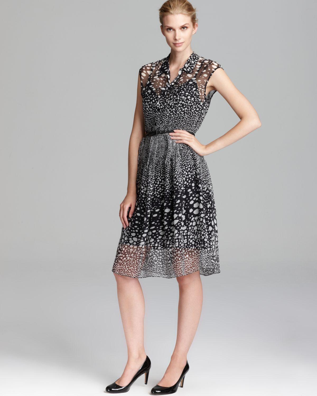 max mara studio gisella printed dress in black lyst. Black Bedroom Furniture Sets. Home Design Ideas